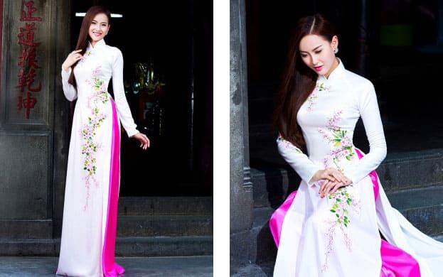 áo dài cưới minh châu