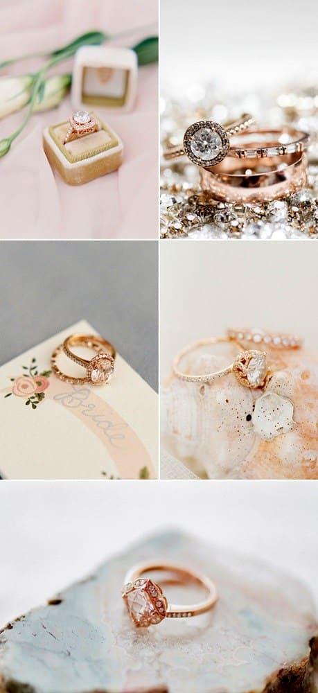 nhẫn cầu hôn đẹp 2016 màu vàng hồng