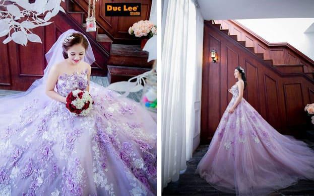 váy cưới màu tím 2016