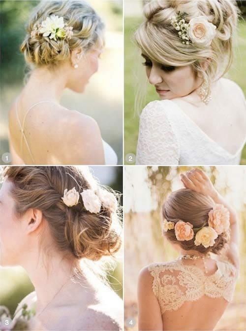 Kiểu tóc cô dâu búi thấp sang trọng