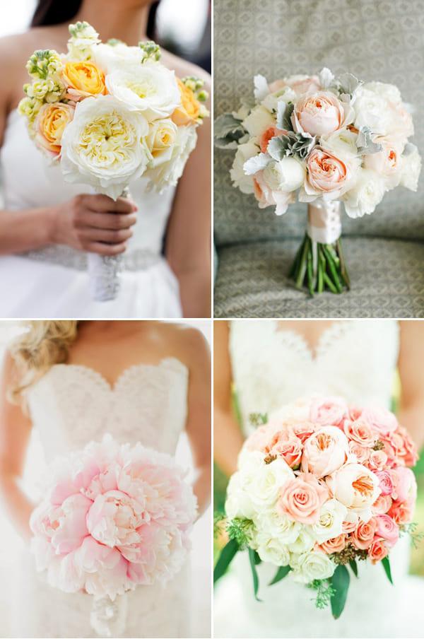 Hoa cưới cầm tay ombre chuyển sắc ấn tượng