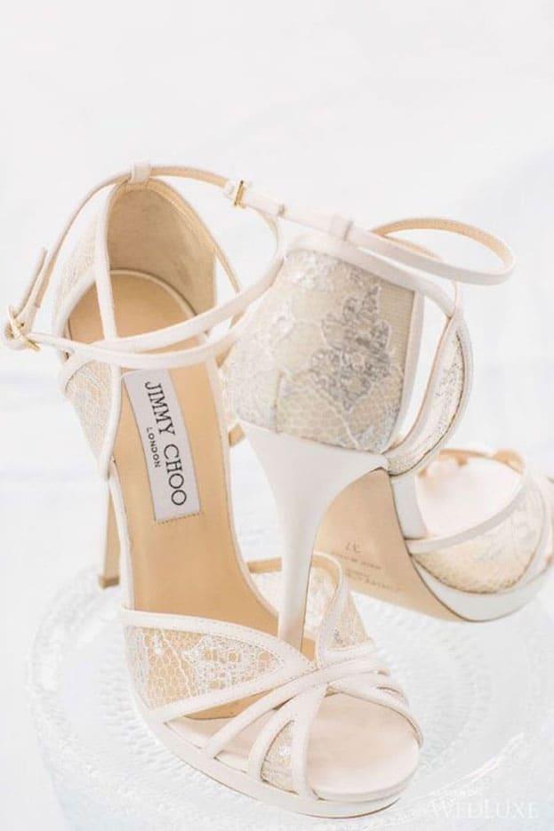 giày cưới ren màu trắng đẹp