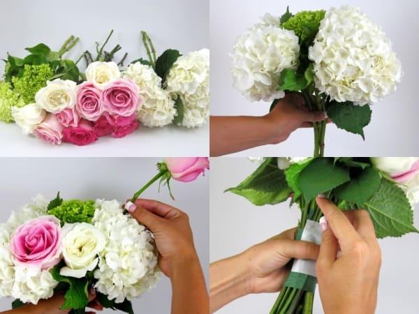 cách bó hoa cưới cẩm tú cầu 2