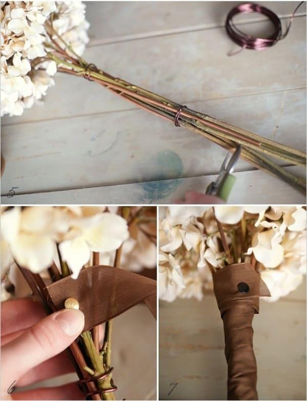 cách bó hoa cưới cẩm tú cầu 13