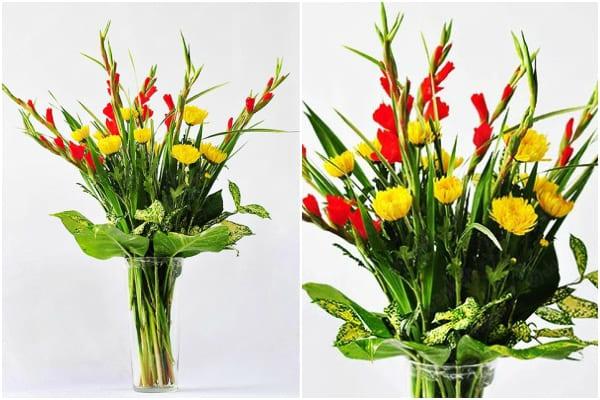 Cách cắm hoa ngày Tết 13