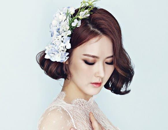 kiểu tóc cô dâu mặt tròn 15