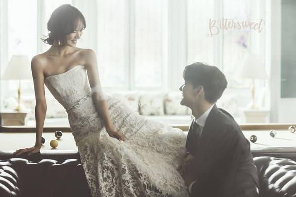 kiểu tóc cô dâu Hàn Quốc 1
