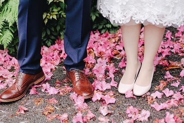 Chọn giày cưới phù hợp với váy cưới