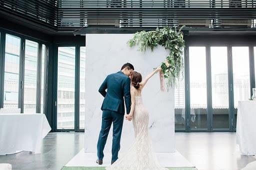 tiệc cưới ngoài trời tối giản tại nhà hàng tiệc cưới hcm