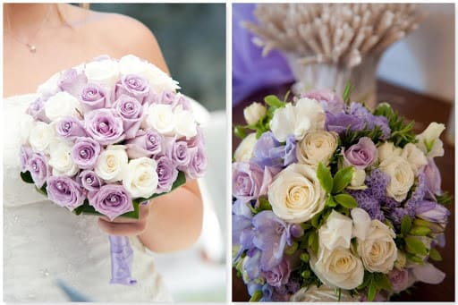 Màu tím sang trọng cho tiệc cưới ngoài trời
