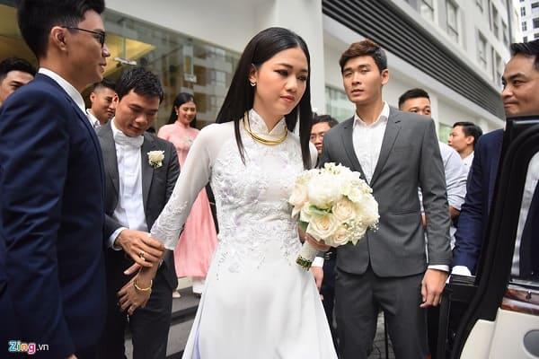 lễ rước dâu á hậu thanh tú 13