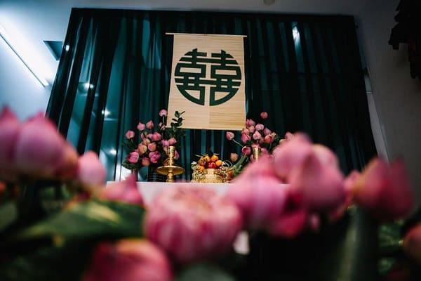 tự trang trí bàn thờ gia tiên ngày cưới 3