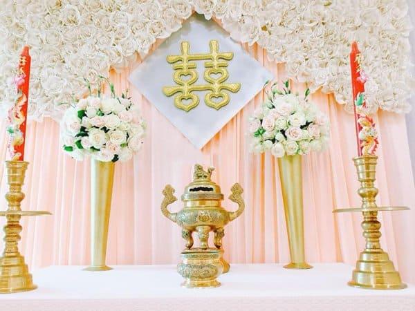 tự trang trí bàn thờ gia tiên ngày cưới 1