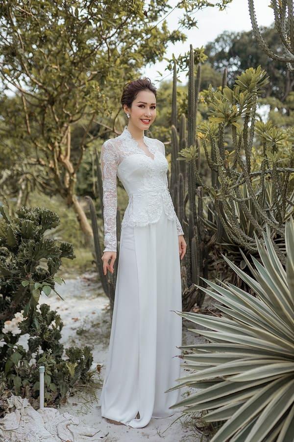 áo dài cưới màu trắng 20