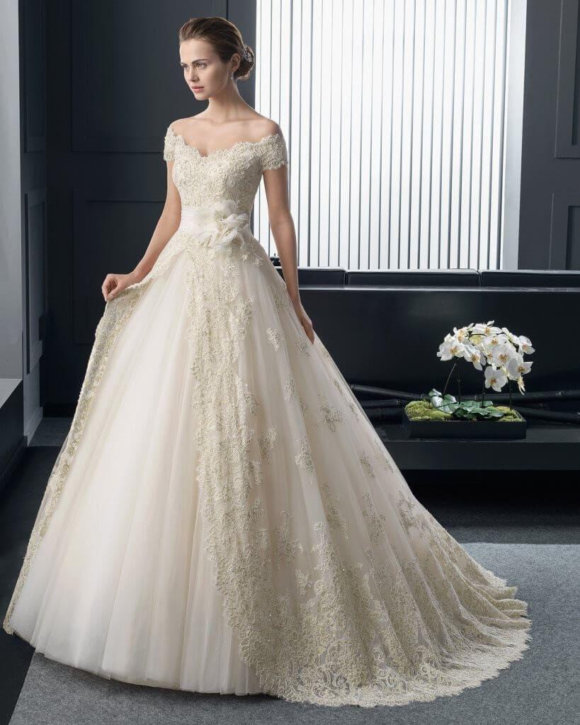 Những kiểu váy có dáng bồng bềnh sẽ được ưu tiên khi chọn váy cưới cho cô dâu gầy Mate