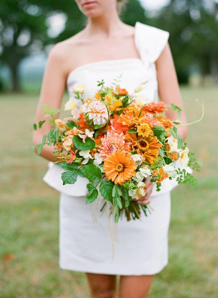Ý nghĩa của hoa cưới hoa cúc ngũ sắc