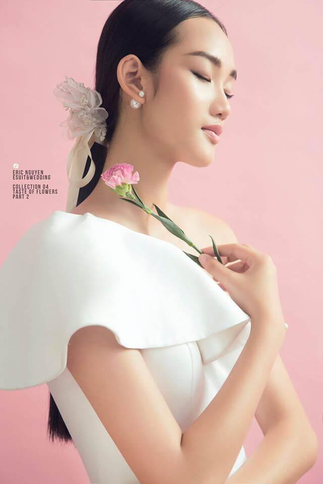Cô dâu có làn da trắng hồng phù hợp với hầu hết gam màu váy cưới Mate.vn