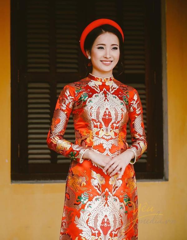áo dài cưới gấm 3 Mate.vn