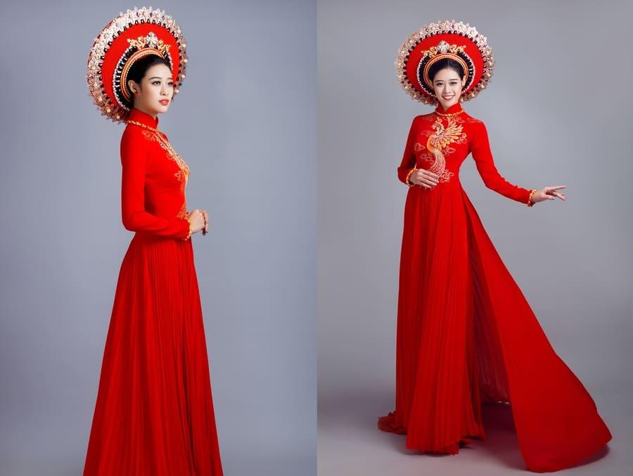Chọn phụ kiện đi kèm với áo dài cưới đơn giản Mate.vn