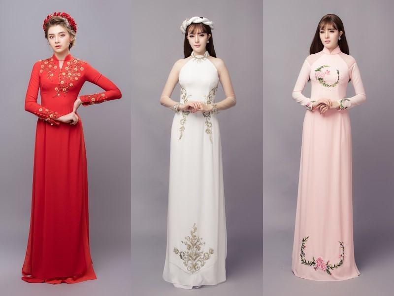 Lưu ý khi lựa chọn màu sắc quần để kết hợp với áo dài cưới đơn giản Mate.vn