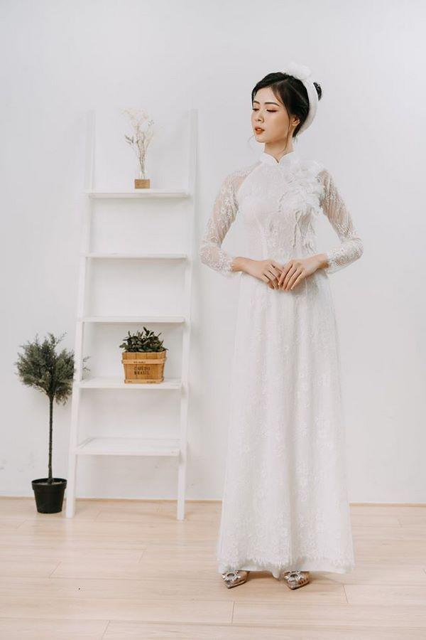 9mẫu áo dài cưới đẹp đơn giản cho các cô dâu nhẹ nhàng, nữ tính