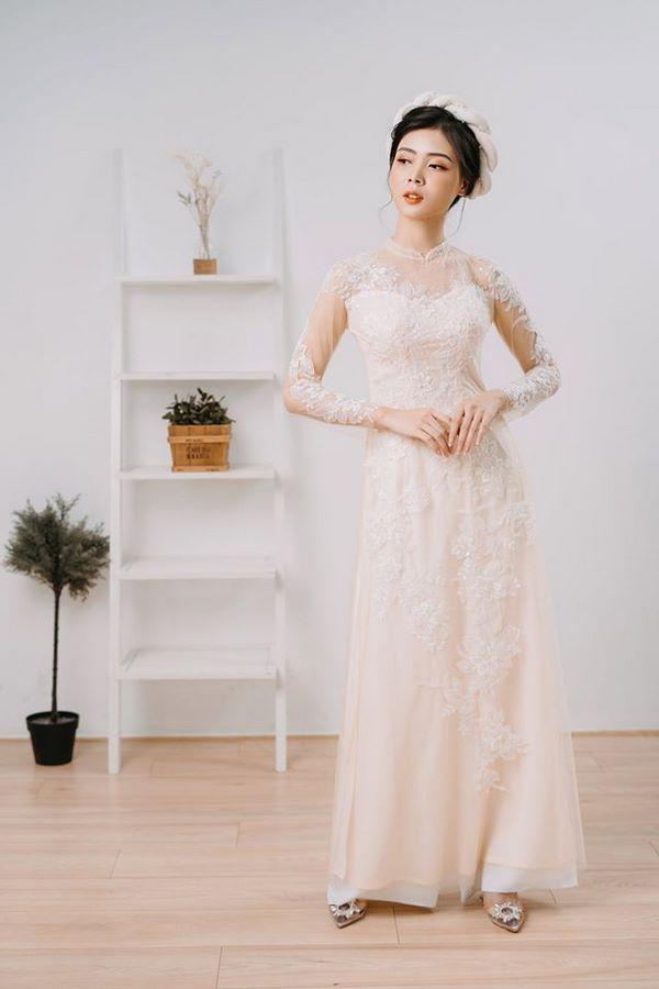 9mẫu áo dài cưới đẹp đơn giản cho các cô dâu nhẹ nhàng, nữ tính Mate.vn