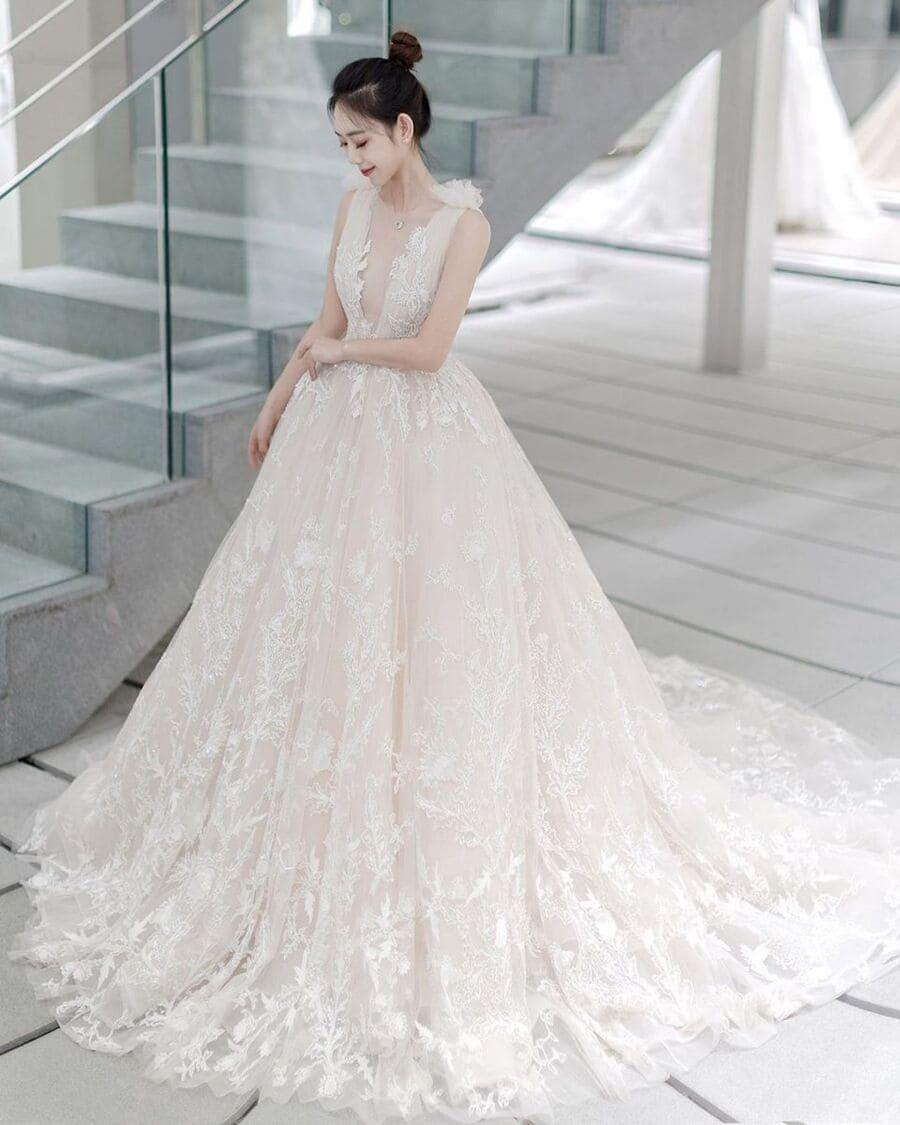 Đầm cưới đơn giản công chúa nữ tính Mate.vn