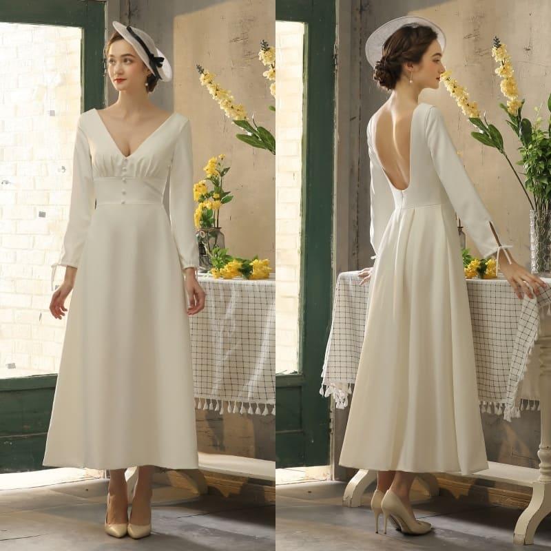 Váy cưới dáng suôn đơn giản nhẹ nhàng
